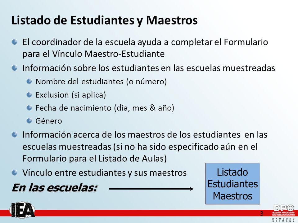 24 Casos especiales de Vínculo Maestro-Estudiante: I Seleccionar Yes si la misma persona enseña en los dos cursos.