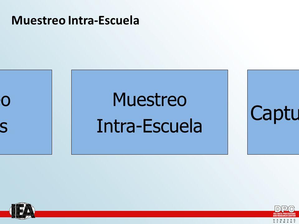 Muestreo Intra-Escuela Muestreo Escuelas Captura de datos Muestreo Intra-Escuela