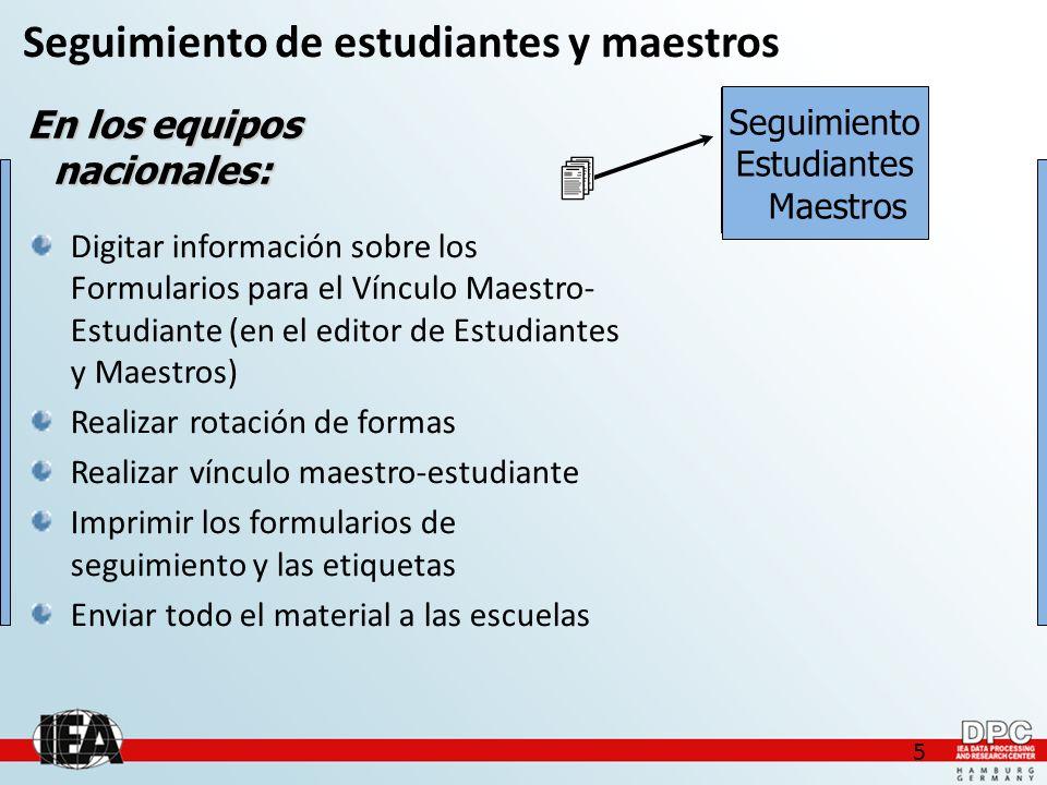 Muestreo Intra-Escuela Sampling Schools Data Entry Within-School Sampling