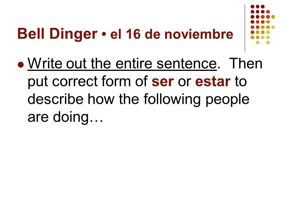 Spanish 2 el 20 de noviembre