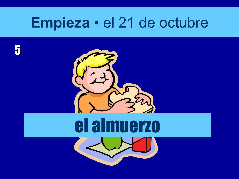 Empieza el 21 de octubre 4 educación física