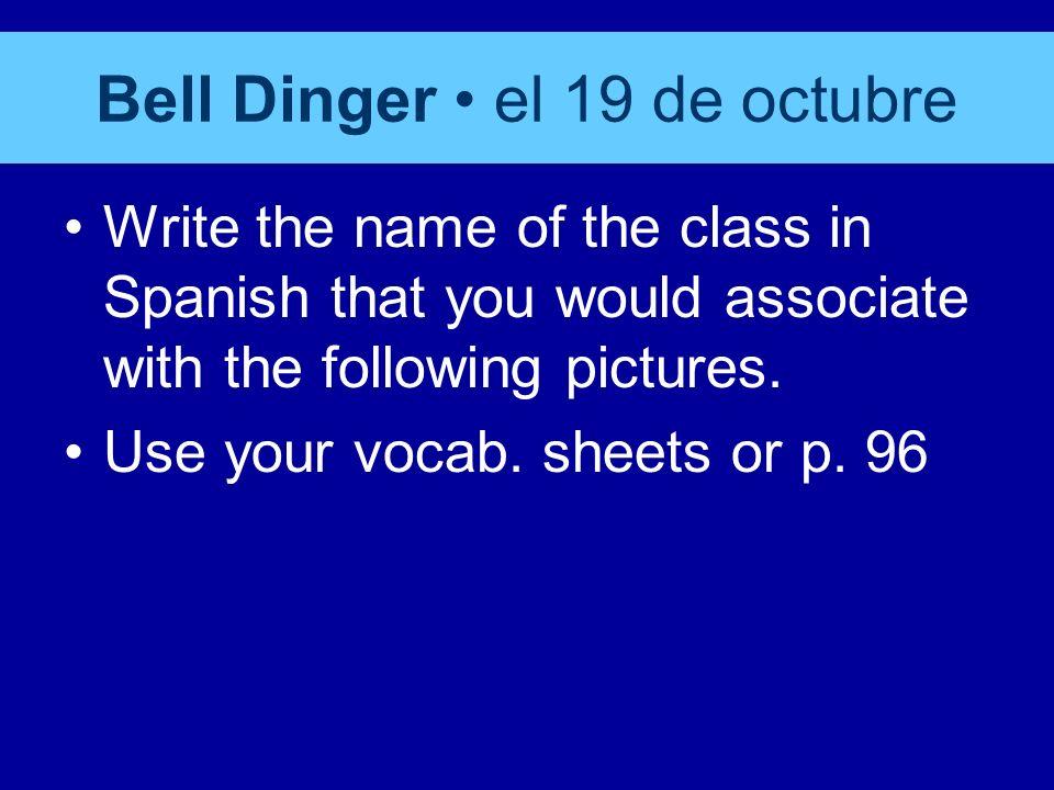 Español 1 el 19 de octubre