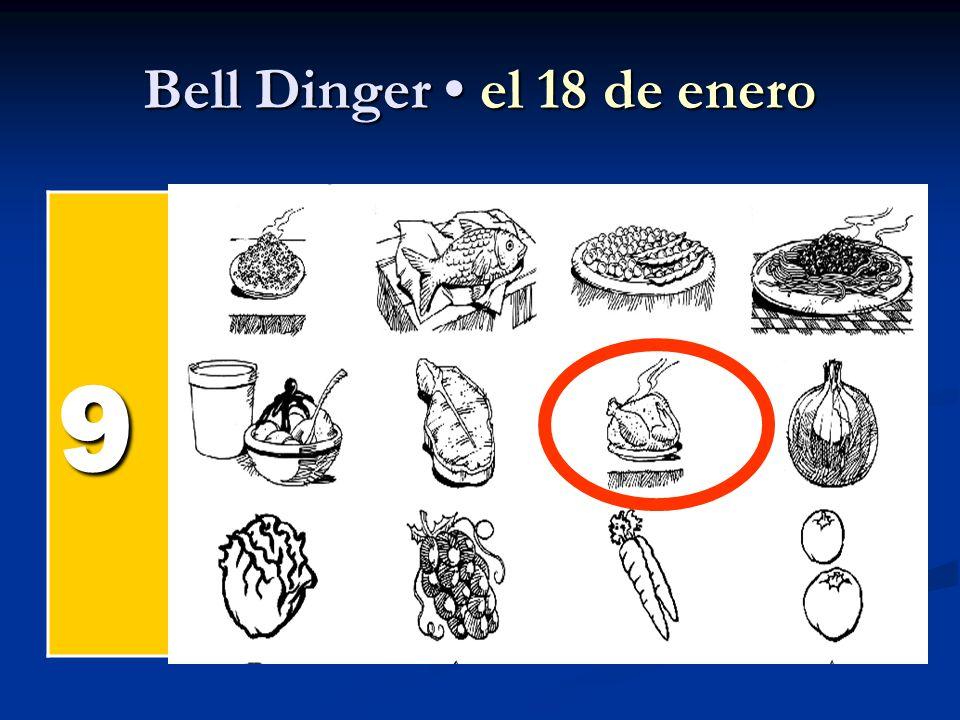 Bell Dinger el 18 de enero 9 el pollel pollel pollel poll el pesc ado el arroz