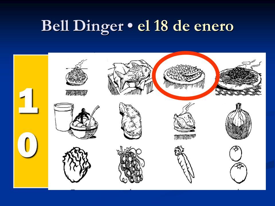 Bell Dinger el 18 de enero 10101010 el pollel pollel pollel poll el pesc ado el arroz
