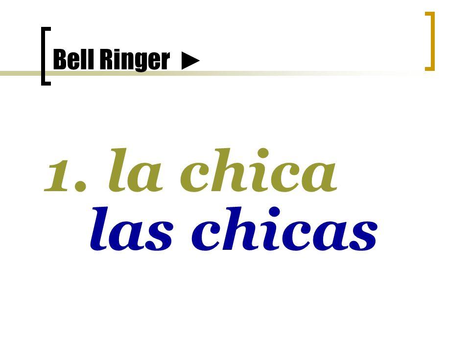 Bell Ringer 10. el estudiante