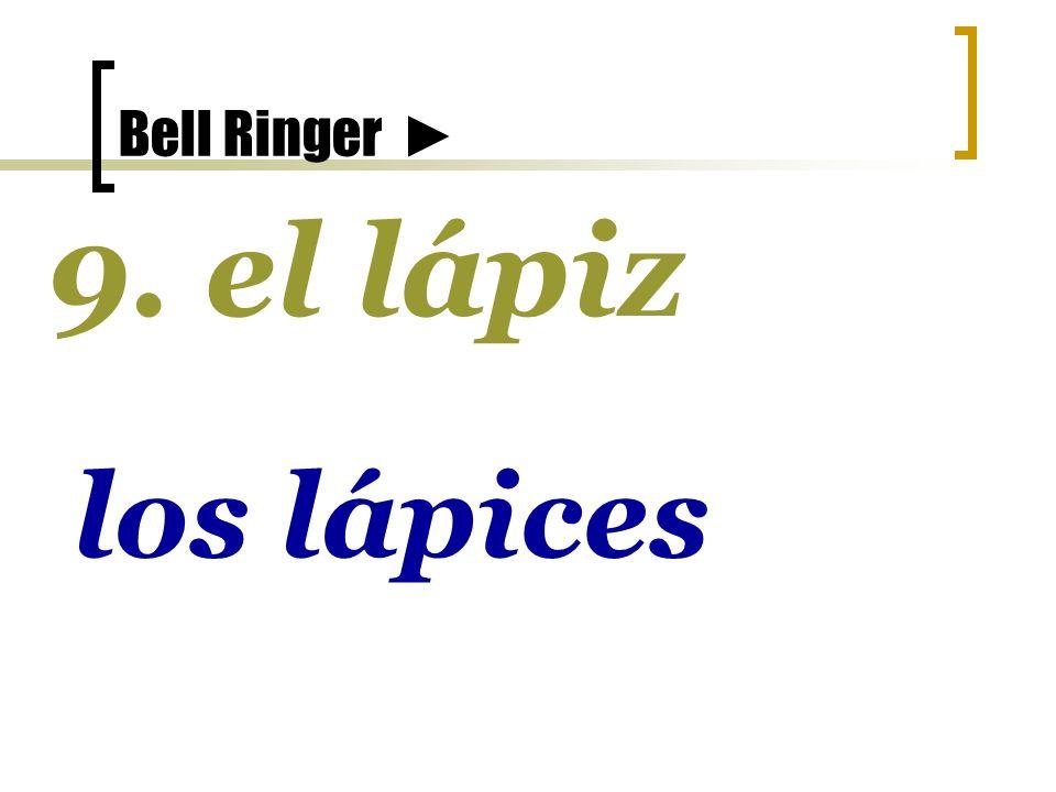 Bell Ringer 8. un limón unos limones