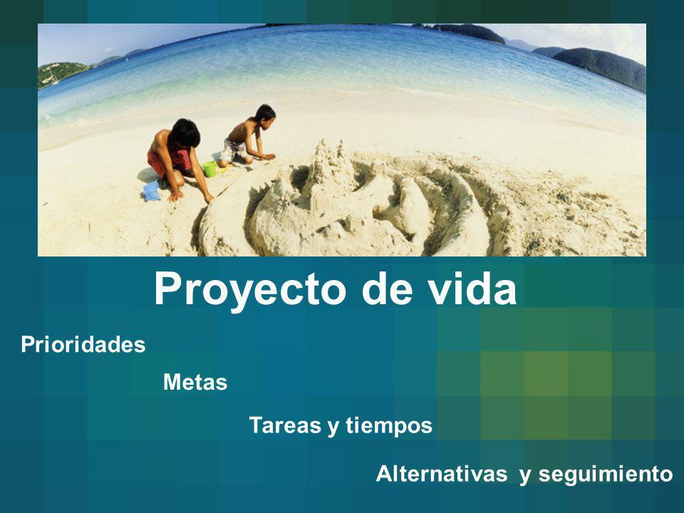 Proyecto de vida Metas Tareas y tiempos Prioridades Alternativas y seguimiento