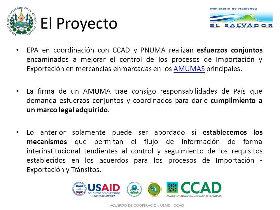 El Proyecto EPA en coordinación con CCAD y PNUMA realizan esfuerzos conjuntos encaminados a mejorar el control de los procesos de Importación y Export