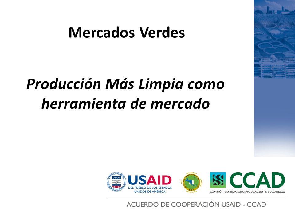 Producción Más Limpia como herramienta de mercado Mercados Verdes