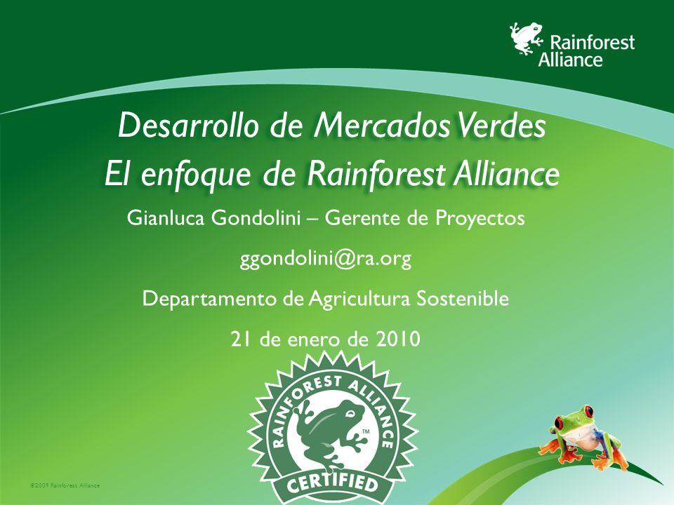 Estructura de la presentación: Nuestra Organización Promoción y desarrollo de mercados verdes para el consumidor para las empresas para el productor Compromisos globales Programa CAFTA-DR Buenas practicas y lecciones aprendidas
