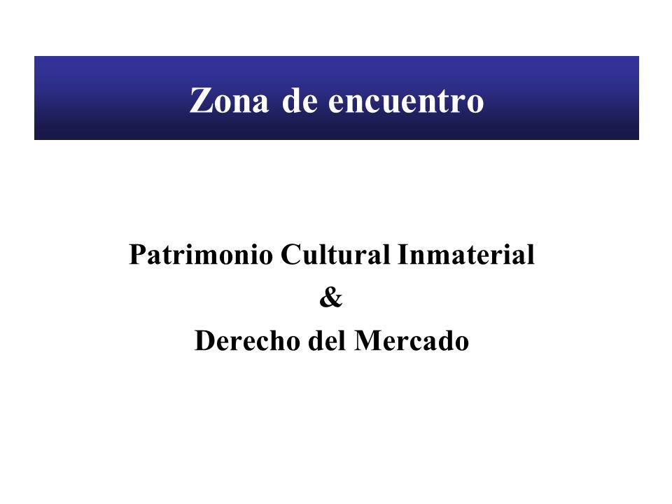 Patrimonio Cultural Inmaterial Régimen normativo Nacional Internacional