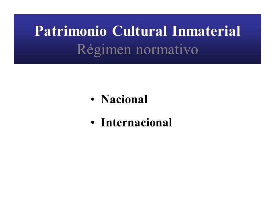 Patrimonio Cultural Inmaterial (Infracciones) Formas de protección: Represión de la competencia desleal Normas de la publicidad comercial Normas de protección al consumidor