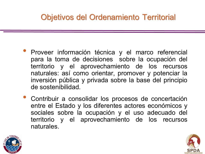 Proveer información técnica y el marco referencial para la toma de decisiones sobre la ocupación del territorio y el aprovechamiento de los recursos n