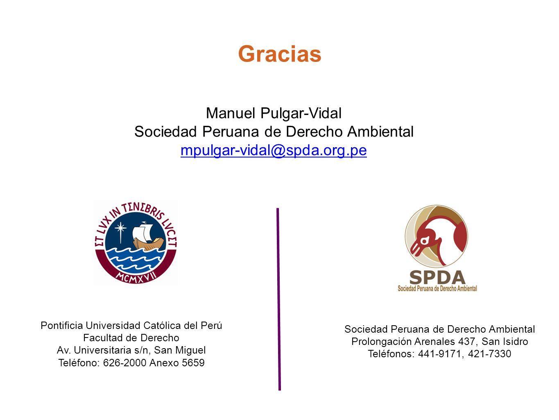 Gracias Pontificia Universidad Católica del Perú Facultad de Derecho Av. Universitaria s/n, San Miguel Teléfono: 626-2000 Anexo 5659 Sociedad Peruana