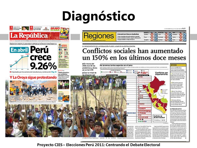 Diagnóstico Proyecto CIES – Elecciones Perú 2011: Centrando el Debate Electoral