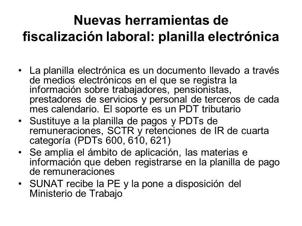 La planilla electrónica es un documento llevado a través de medios electrónicos en el que se registra la información sobre trabajadores, pensionistas,