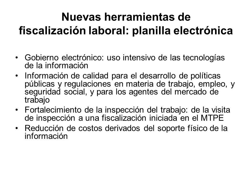 Gobierno electrónico: uso intensivo de las tecnologías de la información Información de calidad para el desarrollo de políticas públicas y regulacione
