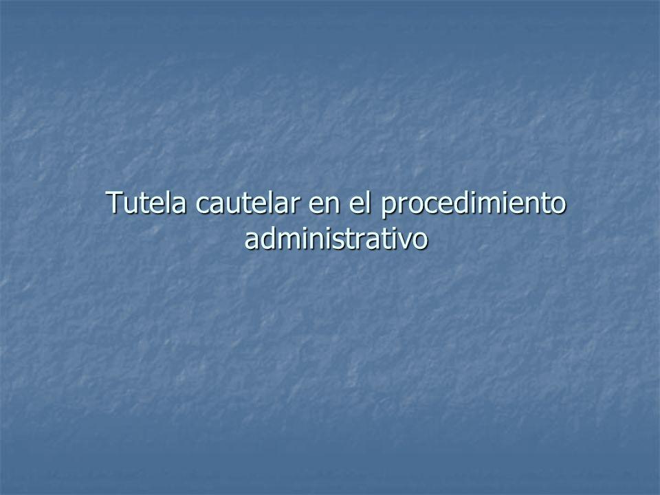 Las medidas cautelares en la Ley del Procedimiento Administrativo General Régimen general de las medidas cautelares en el procedimiento administrativo: artículo 146º LPAG.