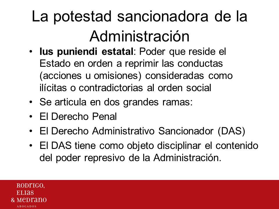 La potestad sancionadora de la Administración Ius puniendi estatal: Poder que reside el Estado en orden a reprimir las conductas (acciones u omisiones