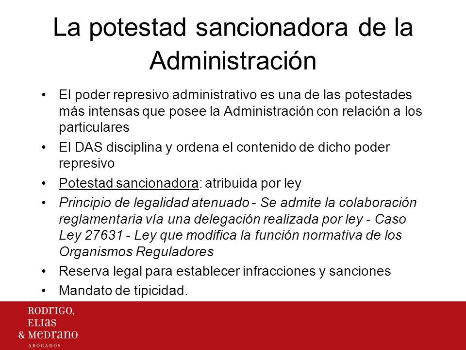 La potestad sancionadora de la Administración El poder represivo administrativo es una de las potestades más intensas que posee la Administración con