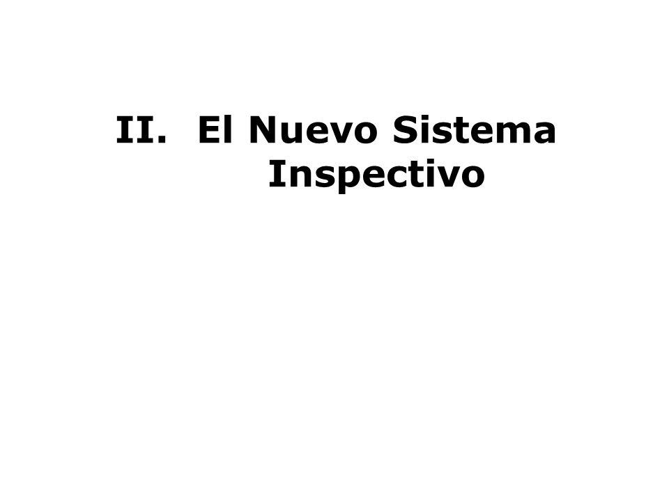 II.El Nuevo Sistema Inspectivo