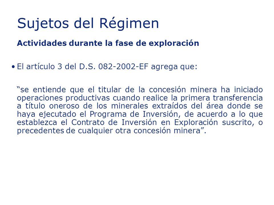 ©2003 Firm Name/Legal Entity Presentation Name (View / Header and Footer) 14 Insert section title Actividades durante la fase de exploración El artículo 3 del D.S.