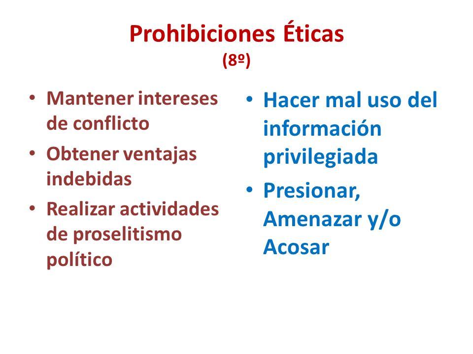 Deberes de la Función Pública (7º) Neutralidad Transparencia Discreción Ejercicio Adecuado del Cargo Uso adecuado de los bienes del Estado Responsabil