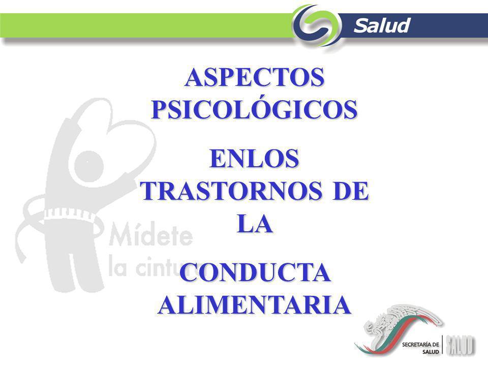 ASPECTOS PSICOLÓGICOS ENLOS TRASTORNOS DE LA CONDUCTA ALIMENTARIA