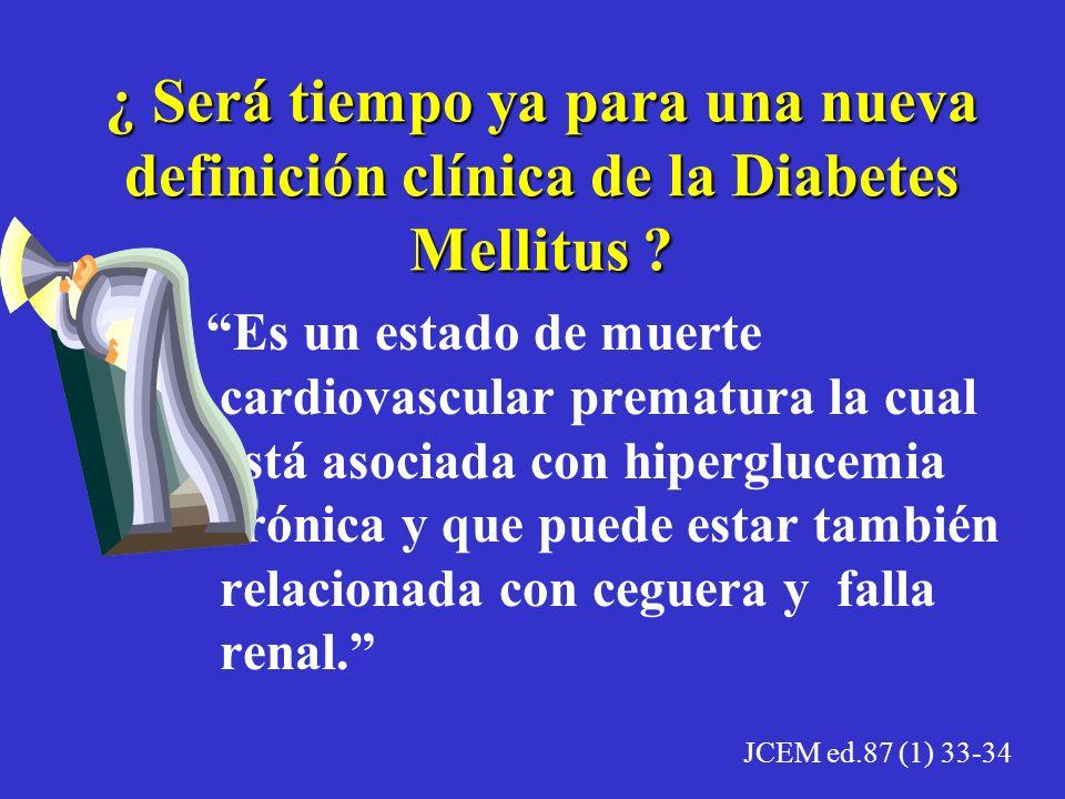 Actualmente en los diabéticos tipo 2 la expectativa y la calidad de vida depende de nuestra capacidad para prevenir y/o controlar la enfermedad cardio