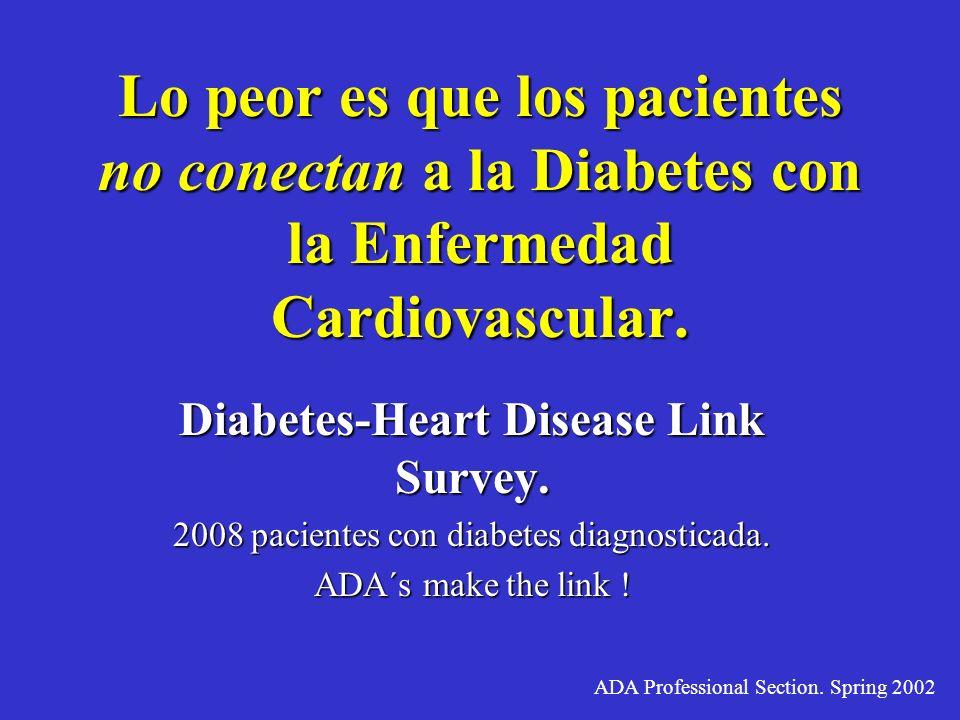 Hay una clara necesidad urgente de la detección y manejo temprano de los factores de riesgo cardiovascular en el paciente diabético. The Endocrinologi