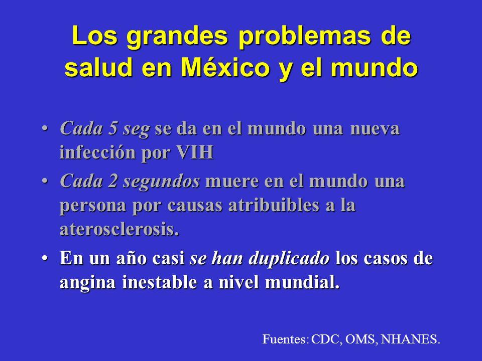 Transición Epidemiológica Cinco Principales Causas de Muerte en México Fuente:INEGI/DGEI-DG. EPID SSA. 1950 Diarreas Neumonías Enf. 1ª Infancia Diabet