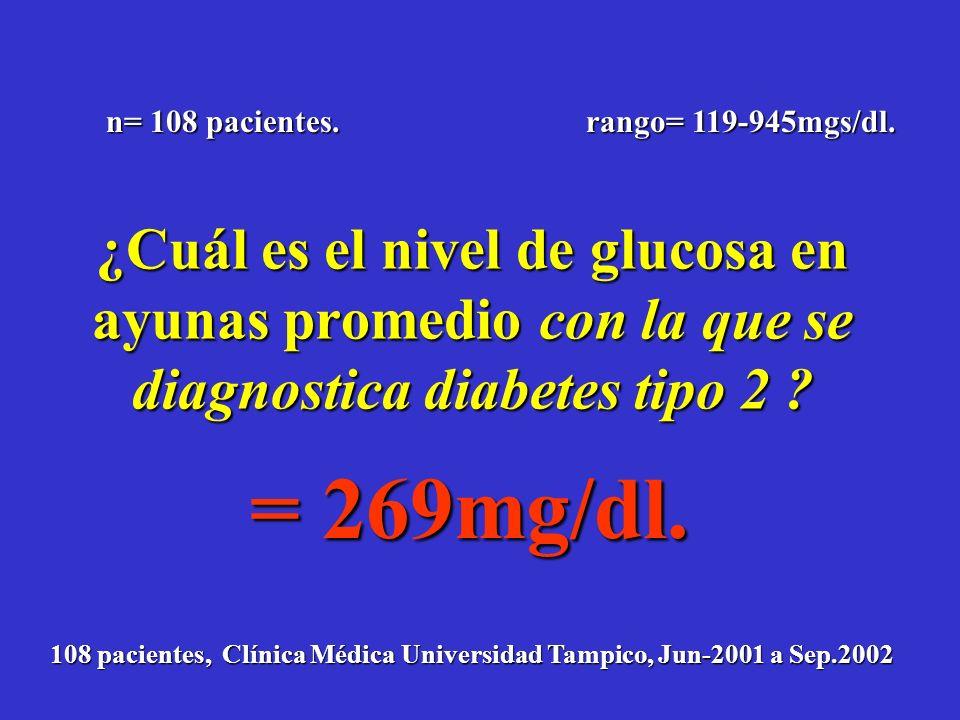 En riesgo de DM Adaptado de R.M. Bergenstal, International Diabetes Centre. Glucemia En relación a lo normal 126 200 30 6 -10-5 05101520 2530 0 100 20