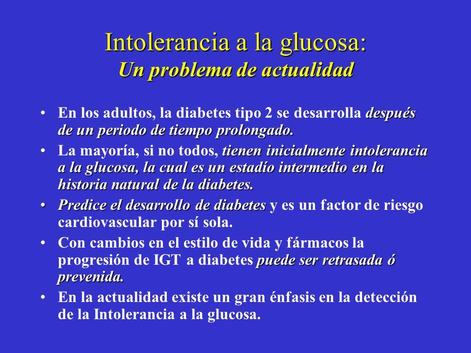 Estudio Prospectivo de París El riesgo de desarrollar diabetes a los 3 años fue mayor entre hombres cuya glucosa plasmática en ayunas era >109.8mg/dl.