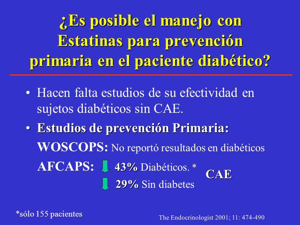 Resultados 4S en Diabetes Years Since Randomization 1.000.900.800.700.600.00 0123456012345601234560123456 Diabetic, Simvastatin Diabetic, Placebo Non-