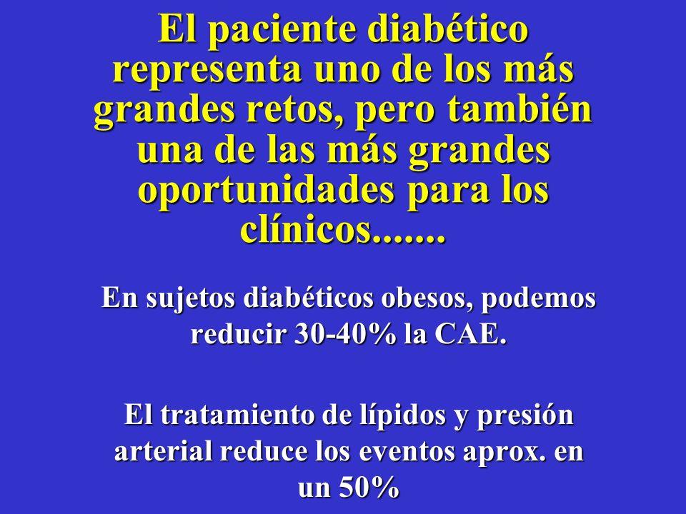 ¿ La aspirina en Diabetes ? SíSí, se recomienda en aquellos pacientes diabéticos que tengan ya ECV conocida ó aquellos que se identifican como de alto