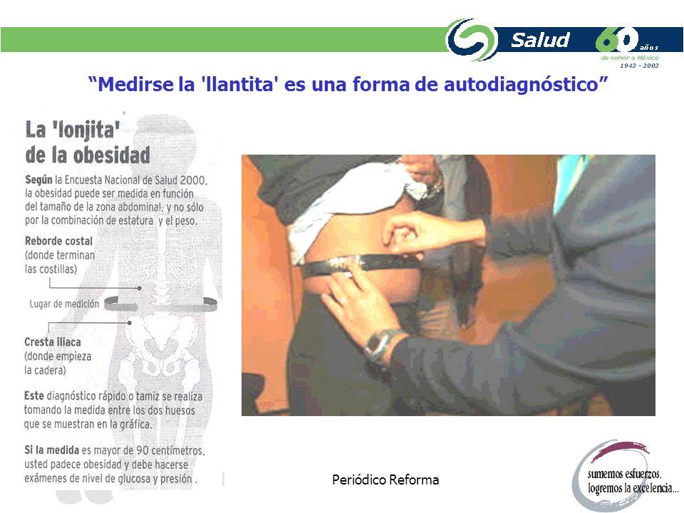 Periódico Reforma Medirse la 'llantita' es una forma de autodiagnóstico