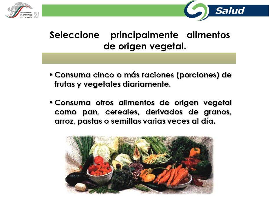 Grupos de alimentos. Grupo I: Frutas y verduras.