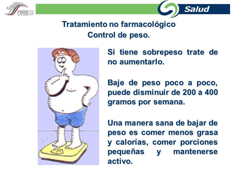 Coma menos calorías El consumo excesivo de calorías aumenta el peso del cuerpo.