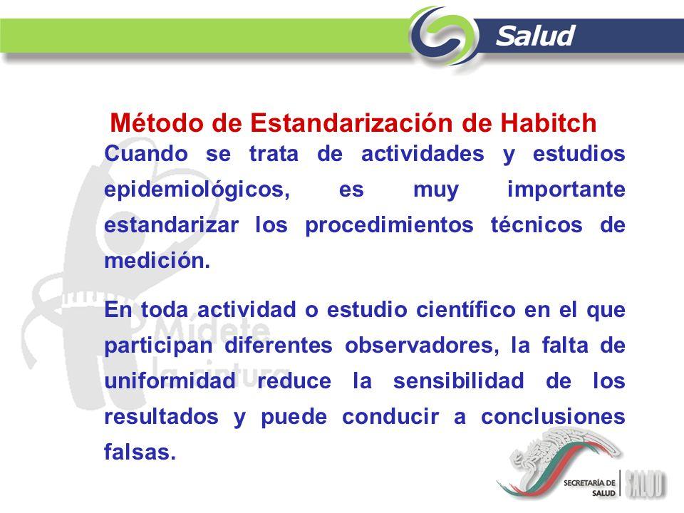 Cuando se trata de actividades y estudios epidemiológicos, es muy importante estandarizar los procedimientos técnicos de medición. En toda actividad o