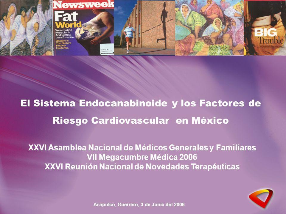 El Sistema Endocanabinoide y los Factores de Riesgo Cardiovascular en México XXVI Asamblea Nacional de Médicos Generales y Familiares VII Megacumbre Médica 2006 XXVI Reunión Nacional de Novedades Terapéuticas Acapulco, Guerrero, 3 de Junio del 2006