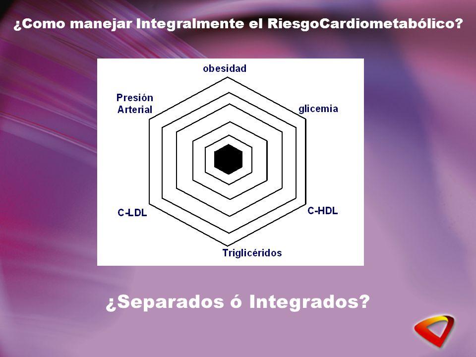 ¿Como manejar Integralmente el RiesgoCardiometabólico ¿Separados ó Integrados