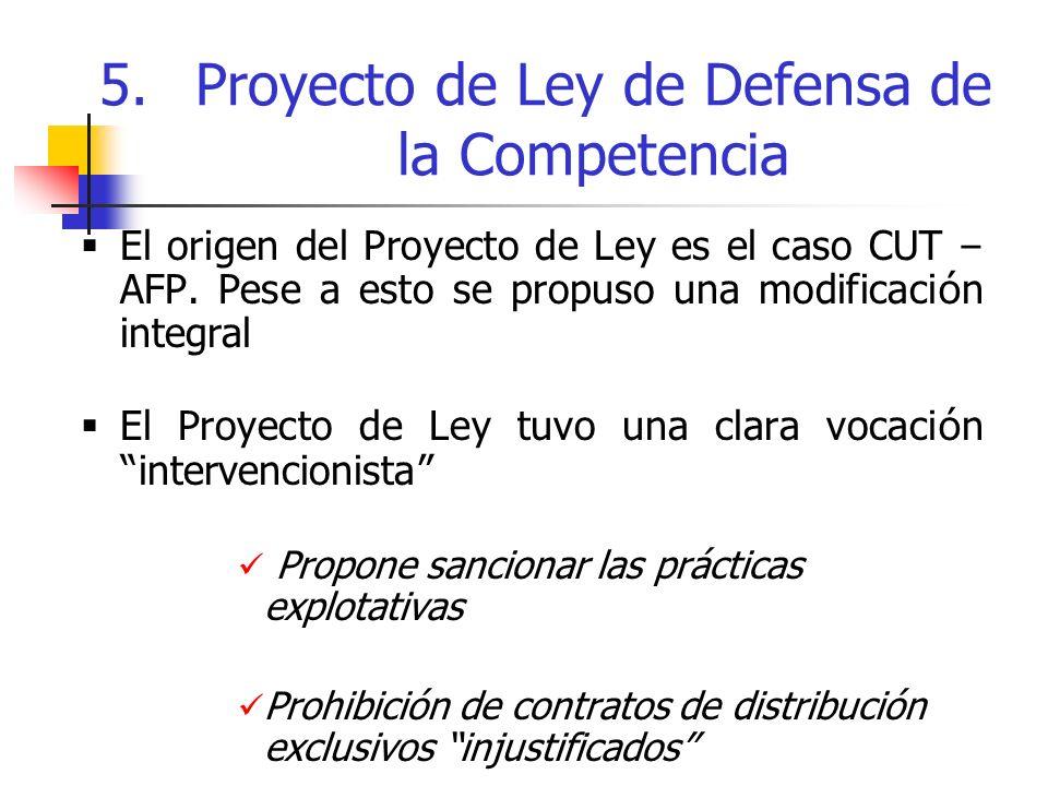 El origen del Proyecto de Ley es el caso CUT – AFP.