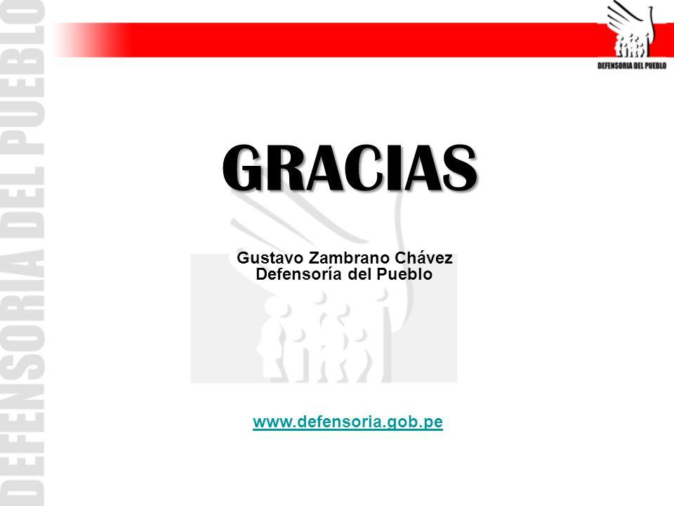 GRACIAS www.defensoria.gob.pe Gustavo Zambrano Chávez Defensoría del Pueblo