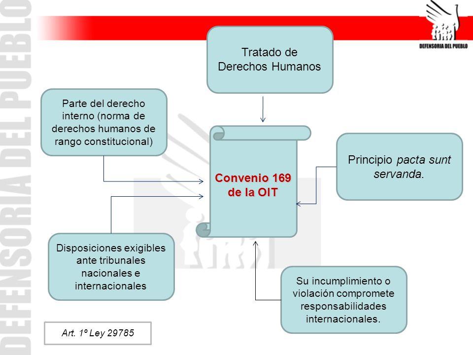 Tratado de Derechos Humanos Parte del derecho interno (norma de derechos humanos de rango constitucional) Principio pacta sunt servanda. Disposiciones