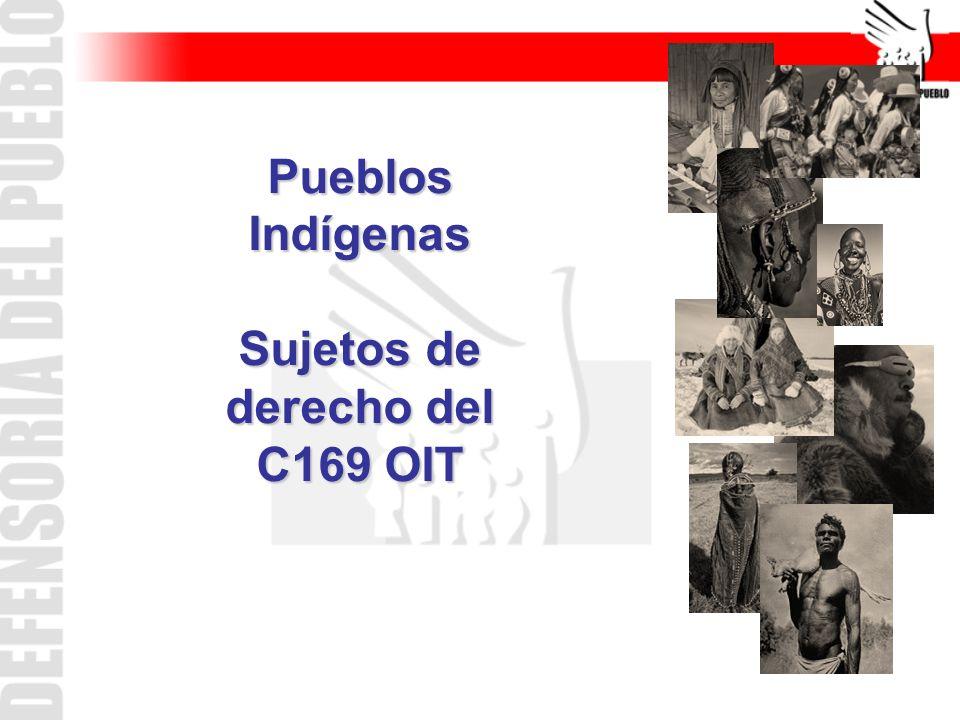 (El C169 no define estrictamente quienes son pueblos indígenas.