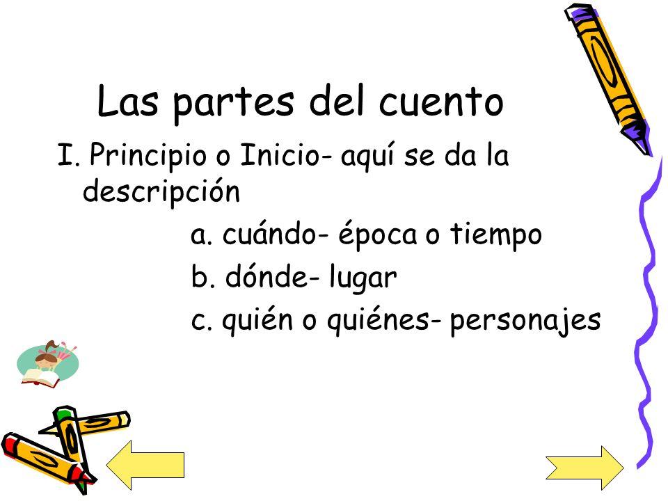I.Principio o Inicio- aquí se da la descripción a.