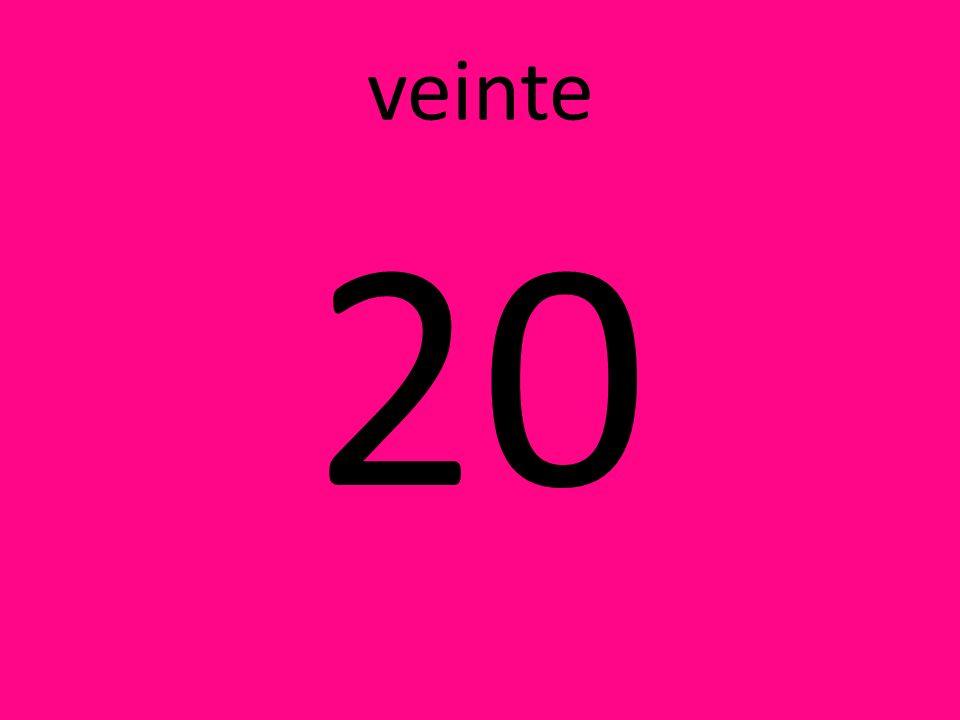 veinte 20