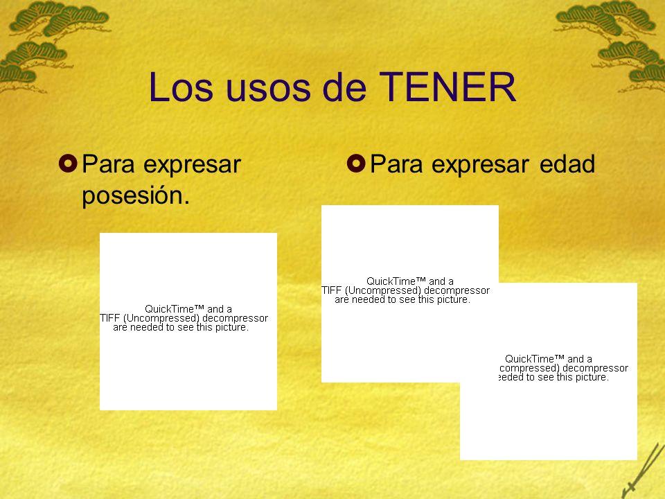 Los usos de TENER Para expresar obligación. Tener + que +inifnitive