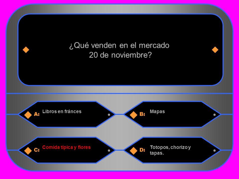 10 A:B: Libros en fráncesMapas ¿Qué venden en el mercado 20 de noviembre.