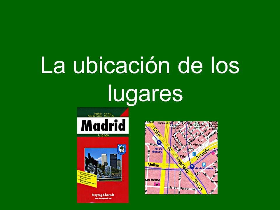La ubicación de personas, cosas y lugares (The location of people, things, and places) To express the location of people, things, and places in Spanish, the verb estar is used.